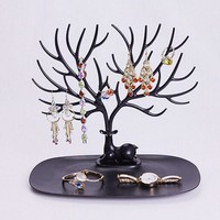 New Necklace Earring Deer Jewelry Stand Display Organizer Holder Show Rack display necklace organizer White jewellery holder