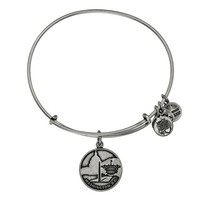 Alex and Ani Washington D.C. Charm Bangle - Rafaelian Silver Finish