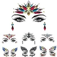 1 Sheet Handpicked Bohemia Tribal Style 3D Crystal Sticker Face And Eye Jewels Forehead Stage Decoration Xmas Decor Makeup Set