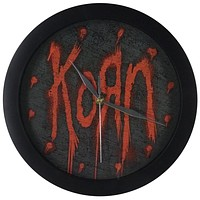 Korn - Red Logo Wall Clock