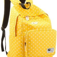 YOPO 2014 Newest Leisure Fashionable Casual Daypack Backpack School Bag Travel Bag Outdoor Backpack For Teens Students (Yellow)