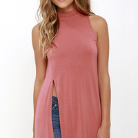 On Repeat Rose Pink Tunic Top