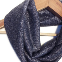 Blue Glitter Scarf - infinity scarf navy scarf navy infinity scarf glitter scarf glitter infinity scarf shimmer scarf scarves for women