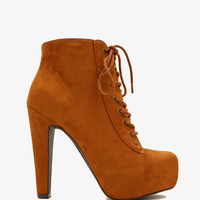 Layla Booties - Chestnut
