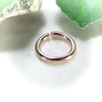 Conch Hoop Earring Pink Gold Filled Single