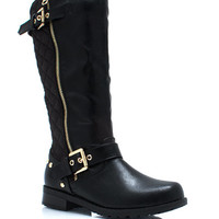 Quilt Master Double Buckle Boots