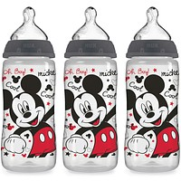 NUK Disney Baby Bottle, Mickey Mouse, 10 Ounce (Pack of 3) 10 Ounce (Pack of 3) 3 Pack