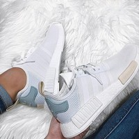 Adidas NMD Trending Fashion Casual Sports Shoes white Mint green
