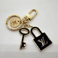 Louis Vuitton LV Women Fashion Plated Bag Ornaments Key Buckle