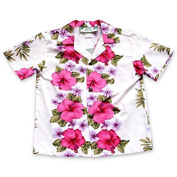 white mist hawaiian boy shirt