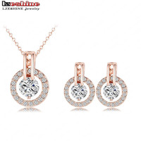 Wedding Jewelry Sets Rose Gold Necklace/Earring Set