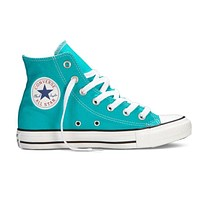 Converse Mint Green Popular Women Men Casual High Help Canvas Flats Sport Running Shoes Sneakers Blue I