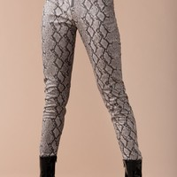 Poised Python Pant - Grey Snake