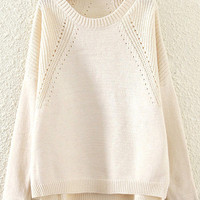 Daffodil Cut-outs Sweater