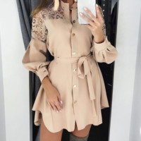 New women's spring and summer dress casual female commuter A word skirt bud silk skirt