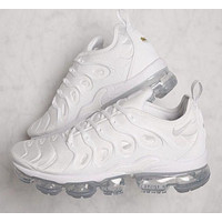 Nike Air Vapormax Plus Popular Woman Men Casual Running Sport Shoes Sneakers White