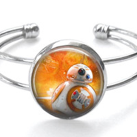 Star Wars VII: The Force Awakens BB 8 Silver Plated Bracelet