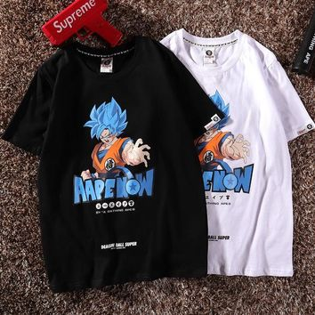 Print Short Sleeve Dragon Ball Tops [1840847650867]