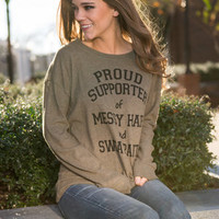 Proud Supporter Top, Olive
