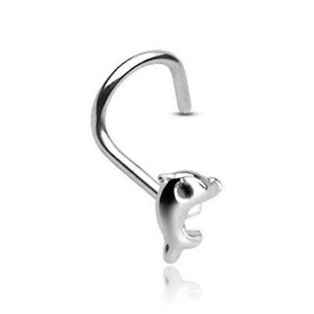 Dolphin Nose Screw 3mm with 20GA .925 Sterling Silver Nose Jewelry