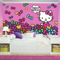 Hello Kitty Bow-tastic XL 7-piece Prepasted Mural Wall Decal