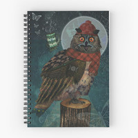 Bubo Bubo - Spiral Notebook /// Owl Notebook, Owl Stationery, Funny Animal, Bird Notebook, Art Notebook, Art Journal, Diary Book,Art Planner