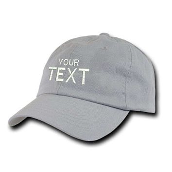 Custom Text Custom Embroidery Baseball Hat - Personalize with your own Name/Logo/Design/Image/Special Message