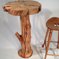 """Ancient Bristlecone Pine """"Bar Branches"""" Table Rustic Log"""