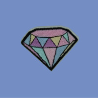 Pastel Diamond Iron-On Patch