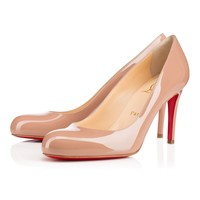 Best Online Sale Christian Louboutin Cl Simple Pump Nude Patent Leather 85mm Stiletto Heel Classic