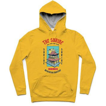 The Shrine Trendy All-Over Print Solid Bright Sun Hoodie