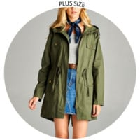 REDUCED! - Alicia Hooded Trench Coat