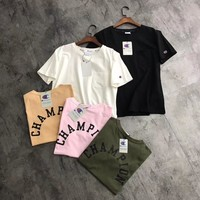 champion chest small pocket back logo t shirt