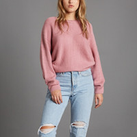 aspen womens chunky crew neck sweater - more colors