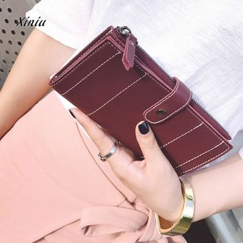 Fashion Women Leather Wallet Clutch Card Holder Purse Zero Wallet Bag Designer Brand Clutch Purse Lady Party Wallet For Female
