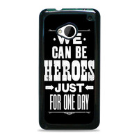 David Bowie Song Lyric Quote HTC One M7 Cases