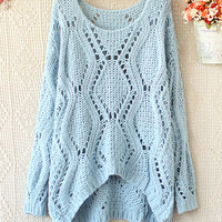 Irregualr BEFORE KNITTING SWEATER