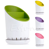 Kitchen Home Drainer Strainer Organizer Dryer Storage Spork Spoon Cutlery Holder