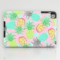 Pineapple Pandemonium Tropical Spring iPad Case by Lisa Argyropoulos   Society6