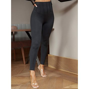SHEIN Solid High Waist Leggings