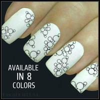 Nail Decals Bubble Nail Designs 20 Water Slide 8 Color Choices