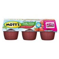 Mott's Healthy Harvest Summer Strawberry Applesauce 3.9 oz 6 ct