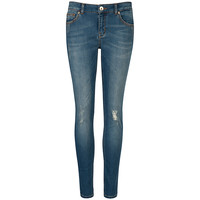 Buy Ted Baker Skinny Abrasion Jeans, Light Wash | John Lewis