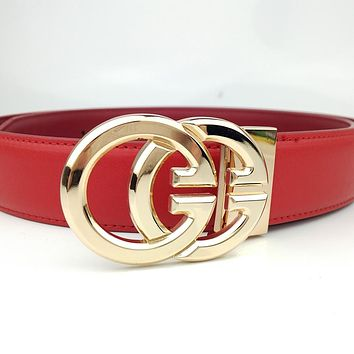 GUCCI New GG Letter Buckle Smooth Buckle Belt