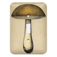Tan Mushroom Light Switch Plate Cover by KittyinPinx on Etsy