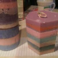 Soy Plumeria / daydreaming / cozy cottage glittery candle