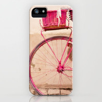 the lady in pink iPhone Case | Print Shop