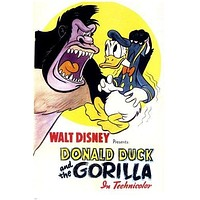 WALT DISNEY movie poster DONALD DUCK AND THE GORILLA animated bright 24X36