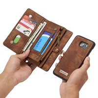 Leather wallet phone cases iPhone 6/iPhone 6S/iPhone 6 Plus/iPhone 6S Plus/iPhone 7/iPhone 7 Plus case/Samsung S7 Edge/S7