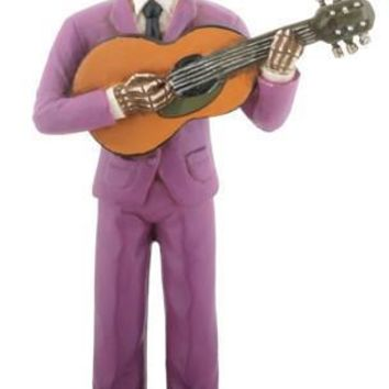 Ramses Lucha Libre Wrestler Playing Guitar Day of the Dead Statue 5.5H